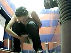 3 movies - Yummy young chicks tinkle in public loo on spy cam